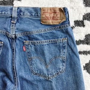 Levi's 501 Straight Leg Button Fly Jeans, 32 x 32